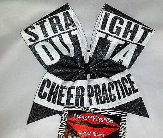 Straight Outta Cheer Practice. Glitter Sublimated by SweetKissCo