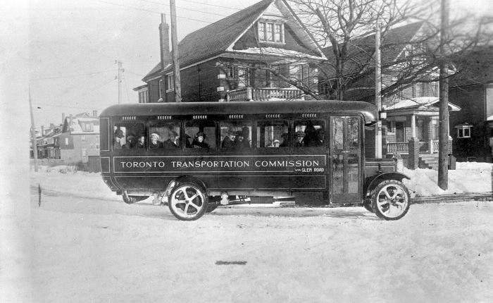 Toronto Transit Commission, bus, on Glen Road route, 1923