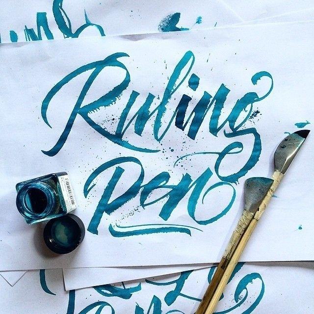 Instagram: 'Ruling Pen' by @handmadefont