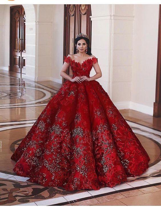 507489745 Vestidos de 15 años color rojo