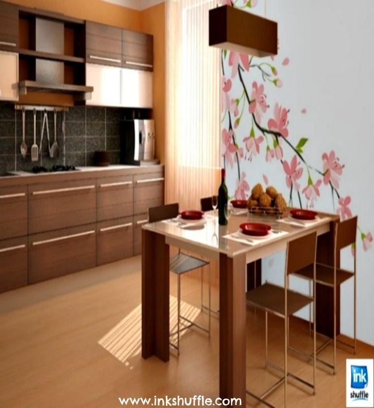 Cherry blossoms ( #sakura) inspired wall decor for the kitchen.