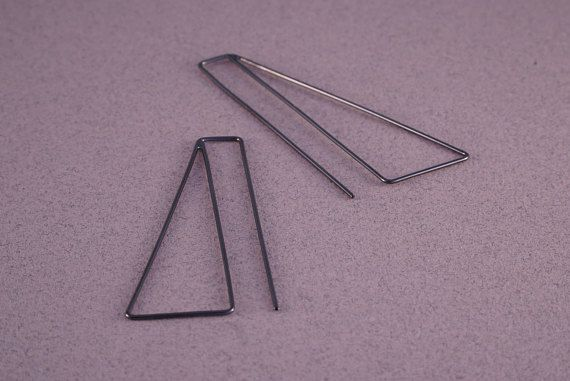 Large triangle earrings for women black earrings triangle