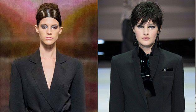 Vijf make-uptrends van 2014 - Het Nieuwsblad Links Donna Karan Rechts Emporio Armani!