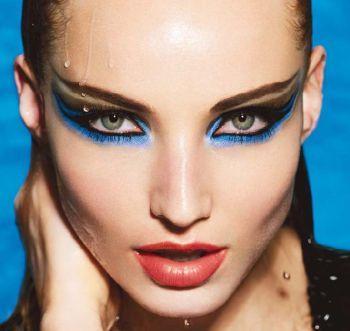 #spring #blue #makeup