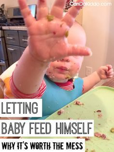 A pediatric OT and mommy shows you how to teach baby to feed himself. Encouraging self-feeding skills right from the start when introducing solid foods as part of the Fast Track to Solids approach. CanDo Kiddo