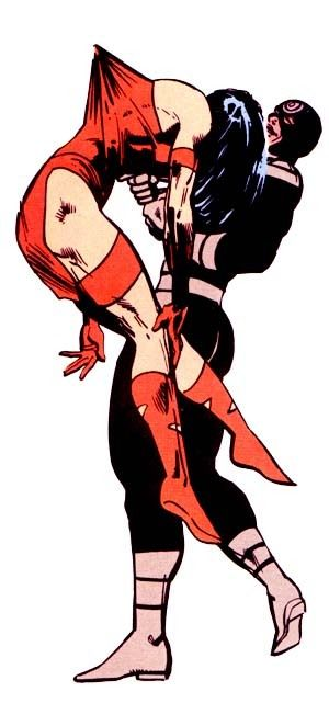 Bullseye kills Elektra by Frank Miller. Iconic