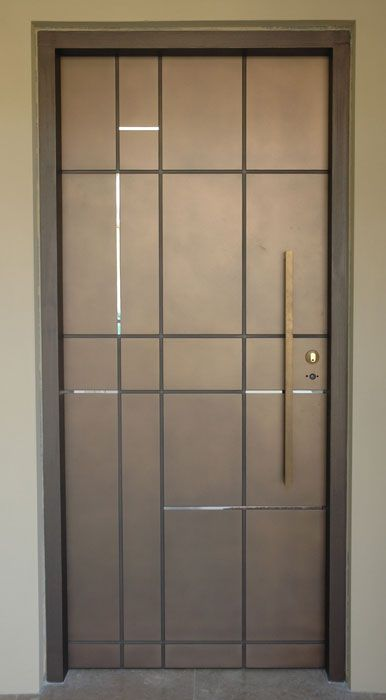 Modern Graphic Bronze door - by Axoloti