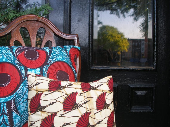 African Wax Print Pillows By Ugandan And American Home Decor Designer Nasozi Of ORIGINS Style