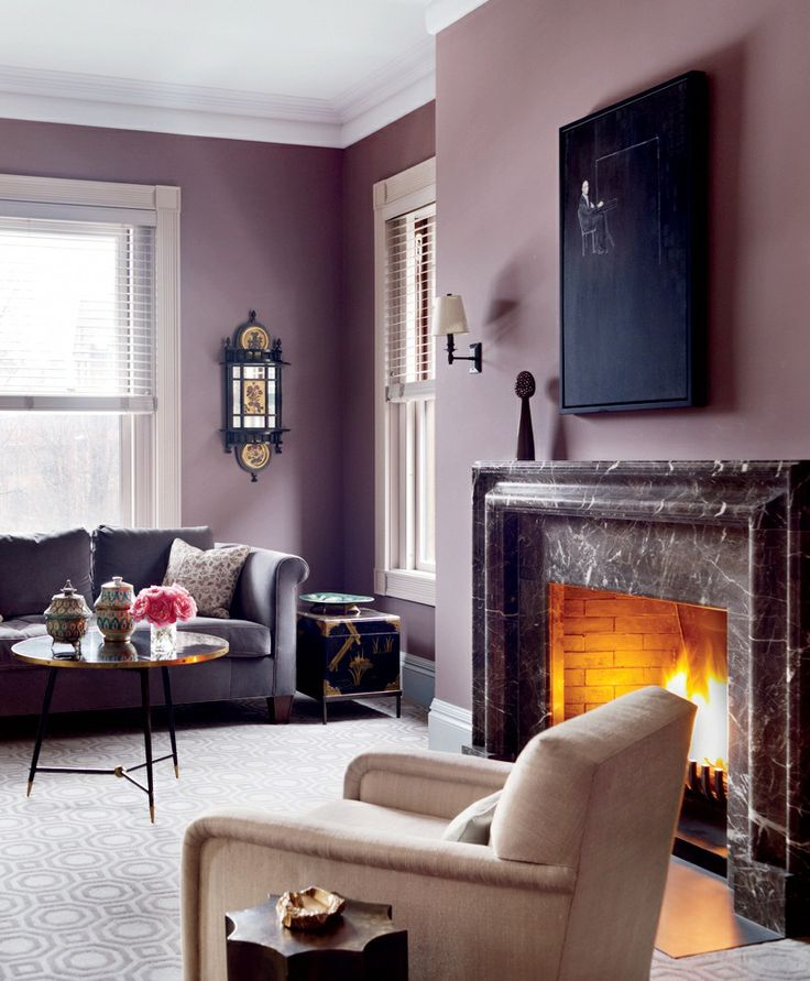 Feminine interior design & decor: pink, purple, fuchsia and mauve walls