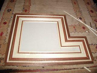 Para a casa Amarela fiz três modelos diferentes de soalho em madeira verdadeira.      Utilizei ripas de madeira de 0,3 mm...