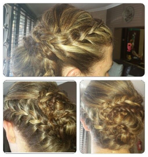 lots of hair ...the plaits worked great to pin it up by Chenene