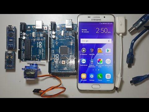 program arduino mega,uno,nano,micro using android smartphone by arduinodroid IDE - YouTube