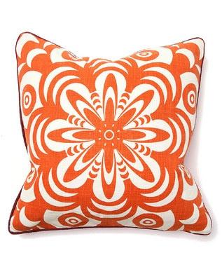 war eagleOrange, Flowerburst, Flower Burst, Bohemian Chic, Living Room, Chic Flower, Decor Pillows, Throw Pillows, Burst Pillows