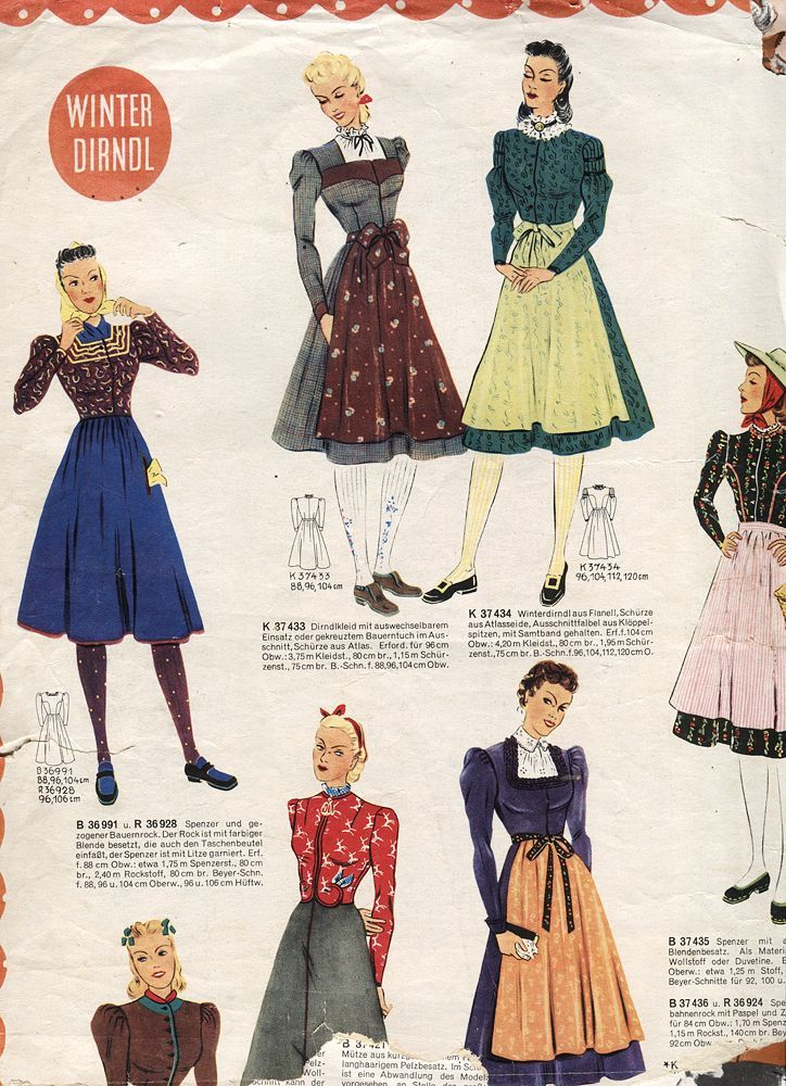 1930 dirndl fashion                                                       …