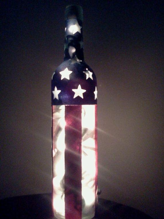 Americana Primitive Bottle by ClassyGarbage on Etsy
