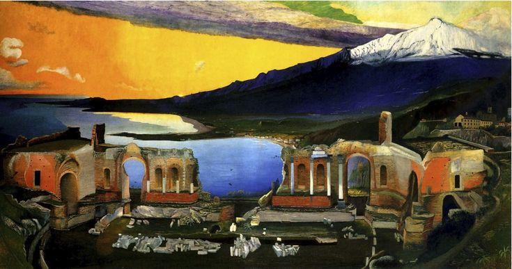 Csontvary: Ruins of the Ancient Greek Theatre at Taormina