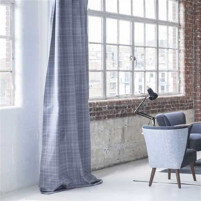 tattersall - turquoise fabric