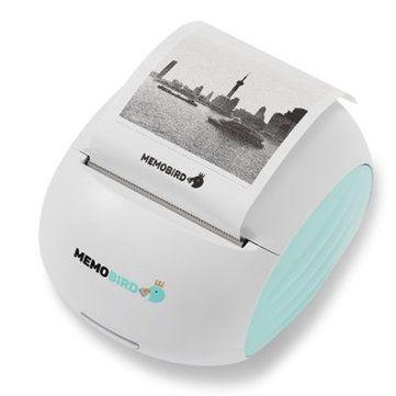 MEMOBIRD G2 Lovely Picture Pocket Wireless WiFi Printer White