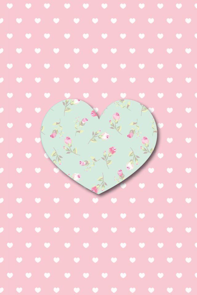 Floral heart and polka dots iphone wallpaper http://htctokok-infinity.hu , http://galaxytokok-infinity.hu , http://iphonetokok-infinity.hu