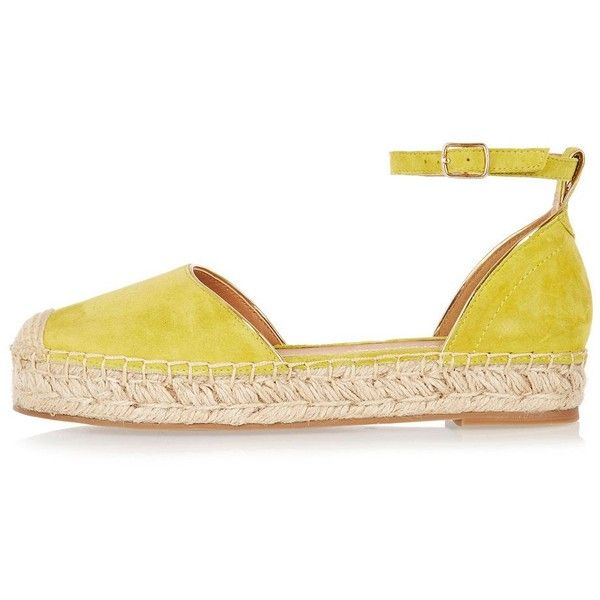 River Island Yellow suede espadrilles ($96) ❤ liked on Polyvore featuring shoes, sandals, espadrilles, shoes / boots, women, yellow, espadrille sandals, river island, yellow espadrilles and suede sandals