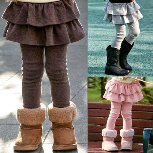 tutorial legging con falda para niña