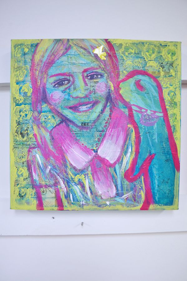 A Mixed Media Self-Portrait from one of our inspiring kids art workshops. www.artandco.com.au