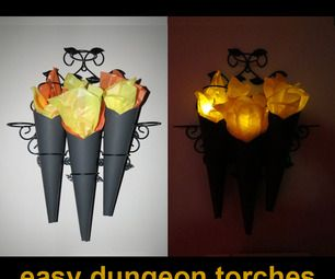 10 Minute Super Easy Dungeon Torches. I think I can see how to do this just by looking at it. It's very clever