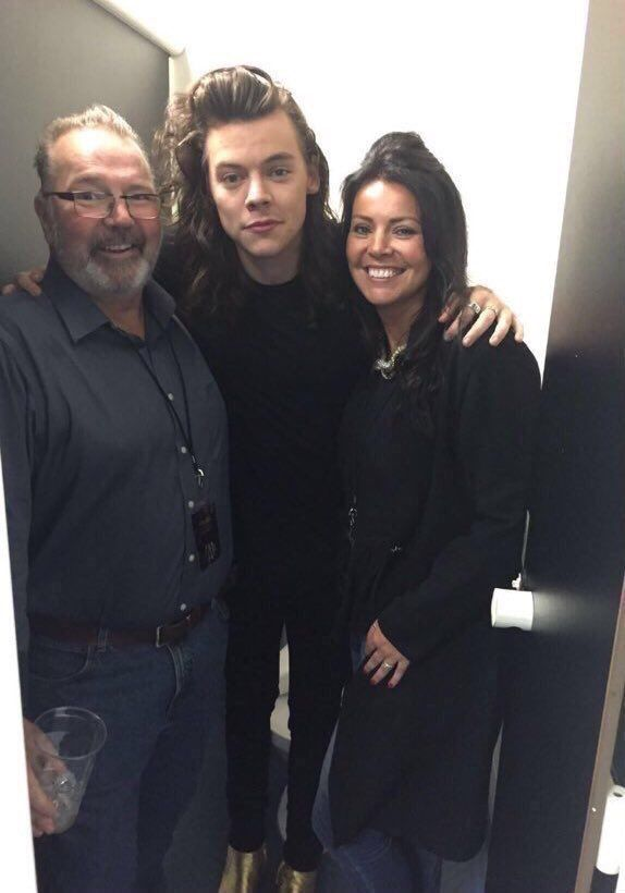 Unseen picture of Harry with Anne and Robin in 2015