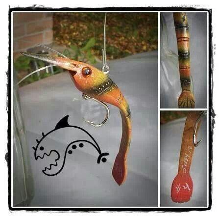 Folk art shrimp lure!