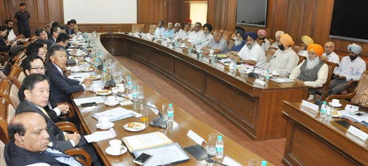 CM Parkash Singh Badal and Sukhbir Singh Badal meeting with South Korean Investors. #Youth#Akali#Dal #CM#Parkash#Singh#Badal #Sukhbir#Singh#Badal