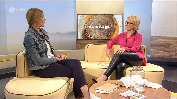 Andrea Ballschuh German Presenter Leather pants 17.07.2016 ...