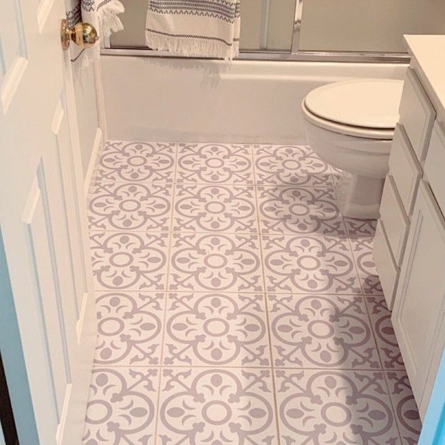 Tile Stickers Vinyl Decal Waterproof Removable For Kitchen Bath Wall Floor Or Stair M029 Gray Stair Riser Vinyl Flooring Tile Stickers Kitchen