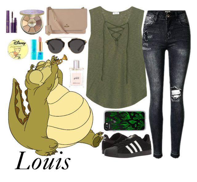 """Louis"" by disneyonrepeat ❤ liked on Polyvore featuring Splendid, adidas, Vivienne Westwood, Christian Dior, Casetify, tarte, philosophy, disney, disneybound and disneyfashion"