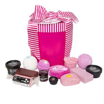 Tickled Pink Gift: Lift the lid on this pretty box and discover the awesome power of pink! Thirteen of our pinkest delights for the bath, body and shower are designed for top-to-toe indulgence.