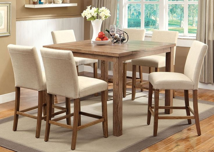 $898 Furniture of America CM3555PT-48-3555IV-PC-SET Sorrel II Counter Height Table Set