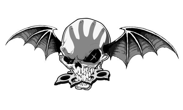 New tattoo idea, it's the Avenged Sevenfold (A7X) Deathbat but with the skull replaced with the Five Finger Death Punch (FFDP) knucklehead put together by a graphic designer friend of mine.