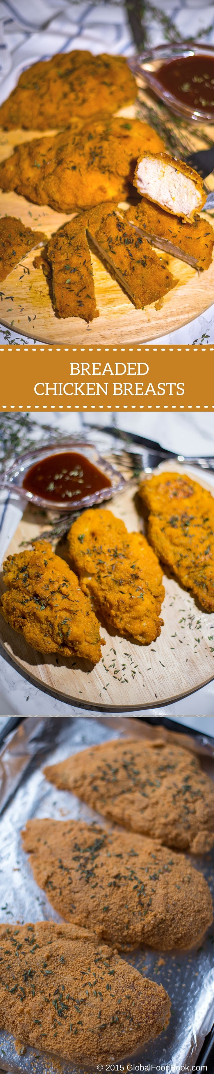 BREADED CHICKEN BREASTS. Cold weather usually prompts me yearning for warm, spicy and hearty dishes at any time of the day. While I was busy perusing through the freezer, thes....  .
