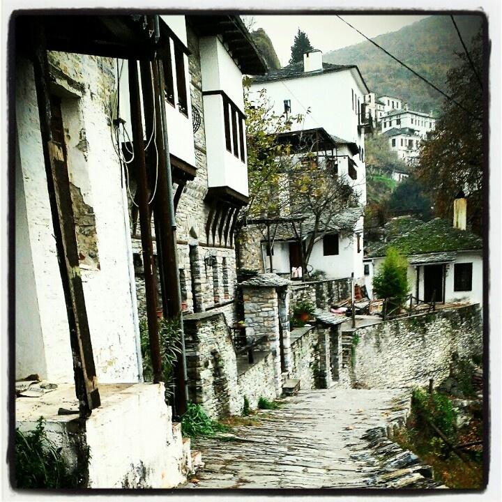 The village of Makrinitsa, in Pelion, Greece