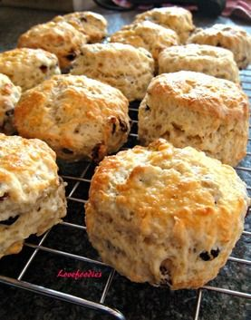 Classic English Scones - I used fresh cherries and chocolate chips.   And kefir.  They were perfect.