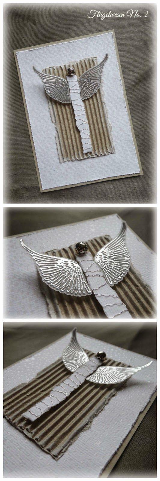 Jenny's Papierwelt: Weihnachtskarten ~Flügelwesen~