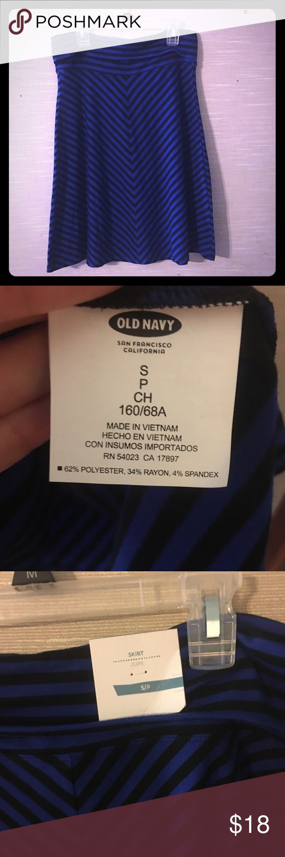 Old Navy striped skirt. NWT small Royal blue and black Old Navy skirt  Nwt Old Navy Skirts