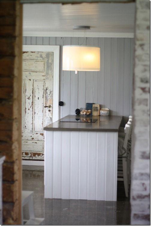Panelbygd side på kjøkkenøy