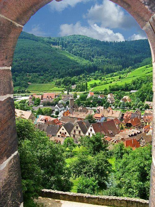 In Kaysersberg, Alsace, France.