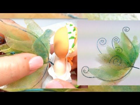 How i make my fairy wings. I like this technique, because the wings are shiny, they don't look plastic, they are transparent and because we can get very inte...