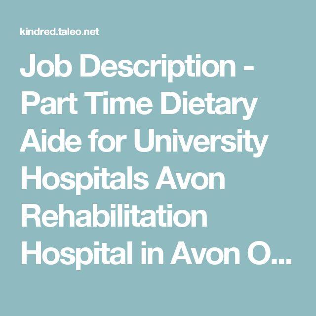 dietary aide job description