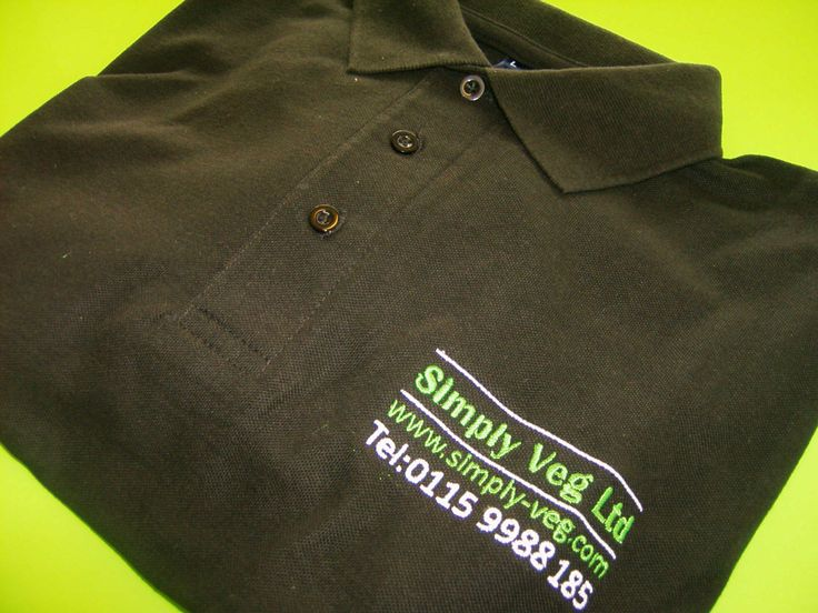 Embroidered Polo Shirts for Simply Veg Ltd by Minuteman Press Nottingham