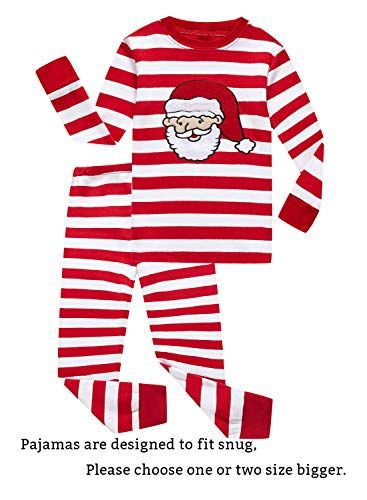 933da8c01f Family Feeling Big Girls Boys Long Sleeve Christmas Pajamas Sets 100%  Cotton Pyjamas Kids Pjs Size 8 Santa Claus