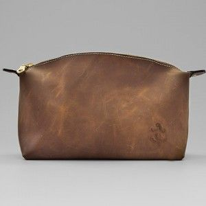 Leather Wash Bag #gifts #formen #leather