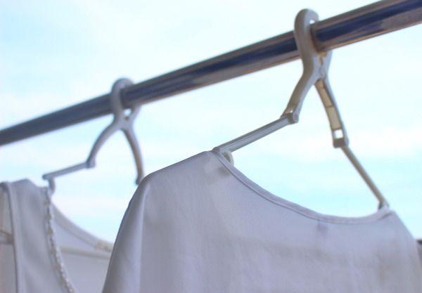 洗濯ハンガーはずっとコレ!収納はベランダに♪ : 良品生活