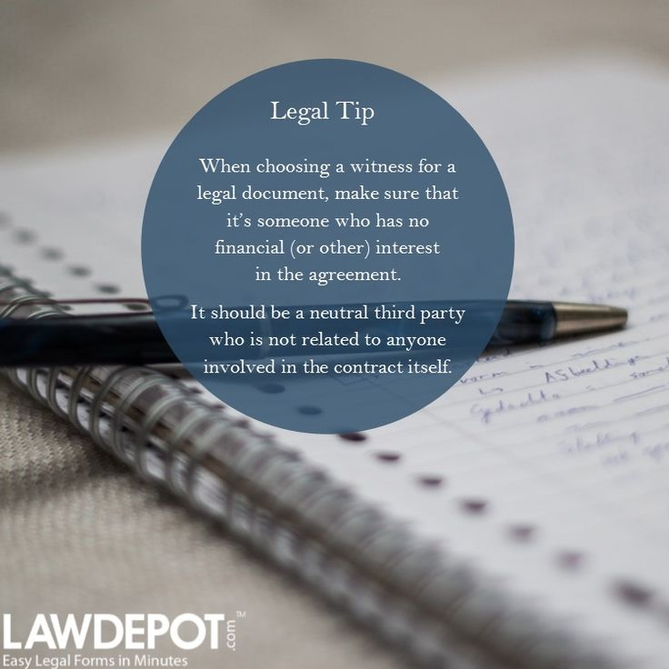 Graphic Who can witness your legal document